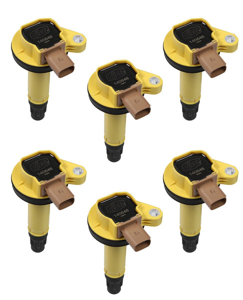 ACCEL (ACC 140646-6) Super Coil OEM Replacement 3 Pin Yellow 6 Pack Super Coil