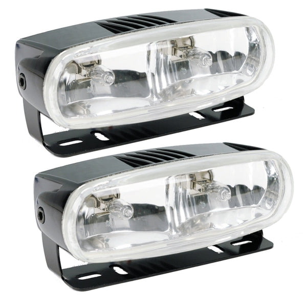 HELLA Optilux H71010321 Model 2020 12V Black Dual Beam Halogen Fog/Driving Lamp Kit