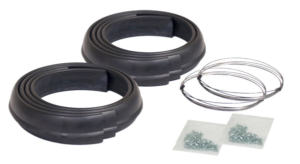 "Pacer Performance 52-192 Flexy Flares Black 1-3/4"" x 58"" Heavy Duty Reinforced Rubber Fender Extension Kit - 4 Piece"
