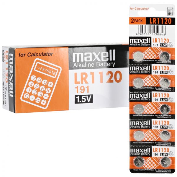 LR1120 Maxell Alkaline Button cell Battery , 1 battery - Royal Technologies :::::  genuinebattery.com