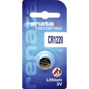 CR1220 Renata Lithium Coin Battery, 1 battery - genuinebattery.com