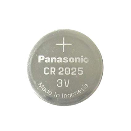 Panasonic CR2025 3V Lithium Coin Battery, 1 Battery