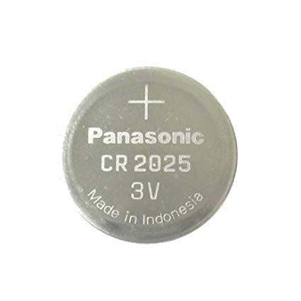 Panasonic CR2025 3V Lithium Coin Battery, 5 Batteries - genuinebattery.com