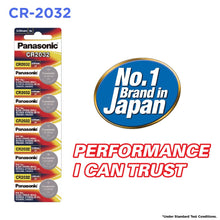Panasonic CR2032 3V Lithium Coin Battery, 5 Batteries - genuinebattery.com