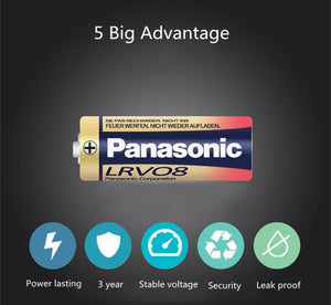 Panasonic 23A Alkaline Battery-12V  LR-V08 - genuinebattery.com