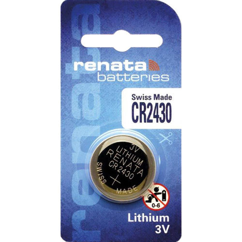CR2430 Renata Lithium Coin Battery, 1 battery - genuinebattery.com