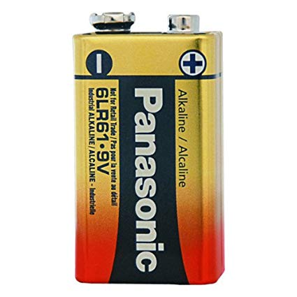 Panasonic 9 volt Alkaline Battery - genuinebattery.com