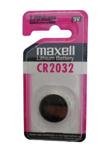 CR2032 Maxell Lithium 3V Coin Battery, 1 Battery