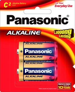 Panasonic Alkaline C Size LR14  (Pack of 2 Cells) - Royal Technologies :::::  genuinebattery.com