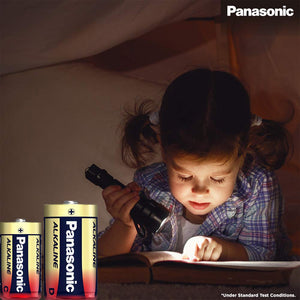 Panasonic D size Alkaline LR 20 (Pack of 2 Cells) - genuinebattery.com