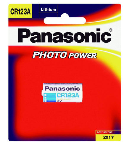 Panasonic CR123A Photo Power Lithium battery for cameras  CR123AW/1BE CR17345 - genuinebattery.com