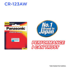 Panasonic CR123A Photo Power Lithium battery for cameras  CR123AW/1BE CR17345