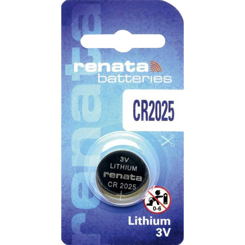 CR2025 Renata Lithium Coin Battery, 1 battery - genuinebattery.com