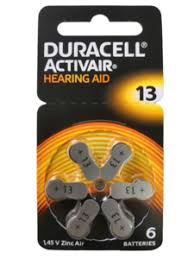 Duracell Activair Size 13 Hearing Aid Battery (6 Batteries Pack) - genuinebattery.com