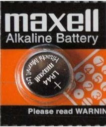 LR44 Maxell Alkaline Button cell Battery , 1 battery