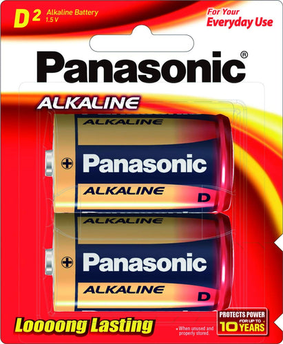 Panasonic D size Alkaline LR 20 (Pack of 2 Cells) - Royal Technologies :::::  genuinebattery.com