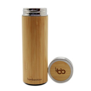 Bamboo thermal flask