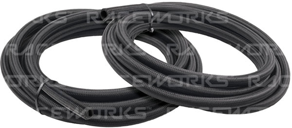 Raceworks 120 Series Cutter Black Nylon Braided Hose
