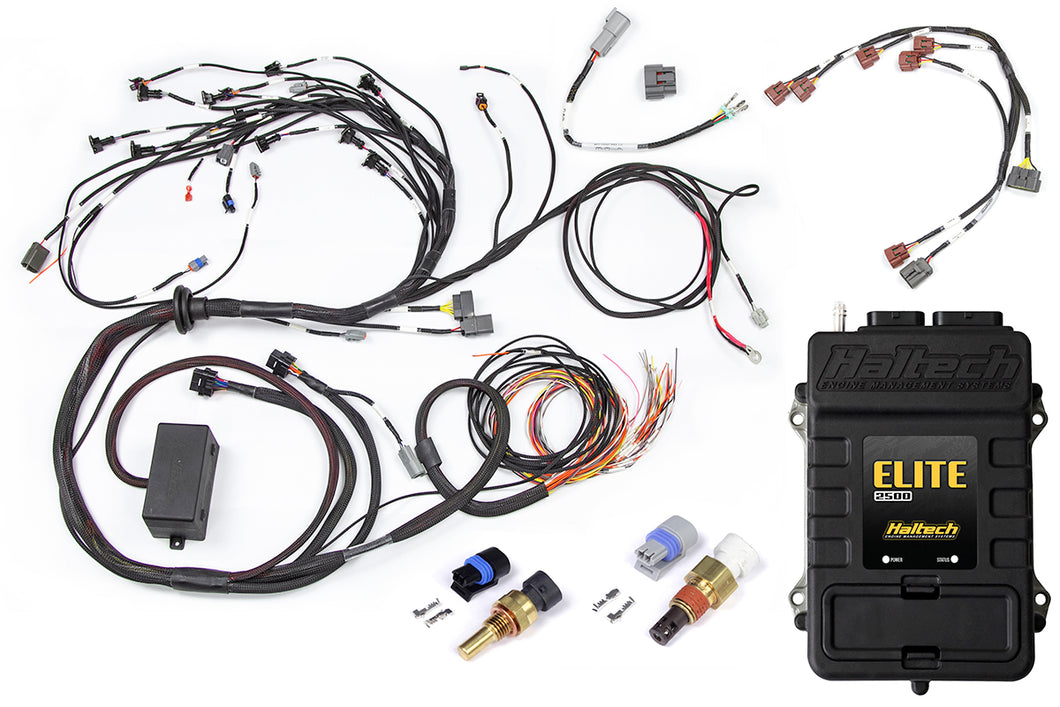 Haltech Elite 2500 + Terminated Engine Harness for Nissan RB Twin Cam With Series 1 (early) ignition type sub harness