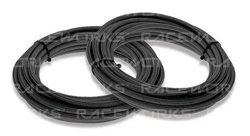 Raceworks 240 Series Teflon Black Nylon Braided Hose