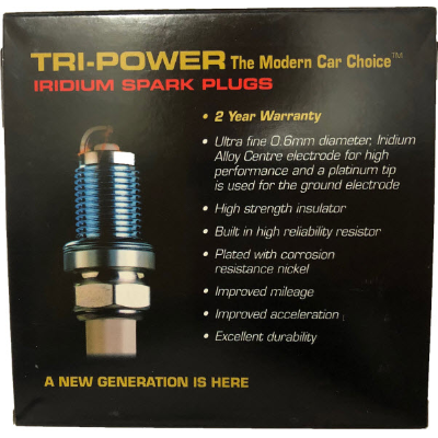 Tri-Power Iridium Spark Plug TPX016
