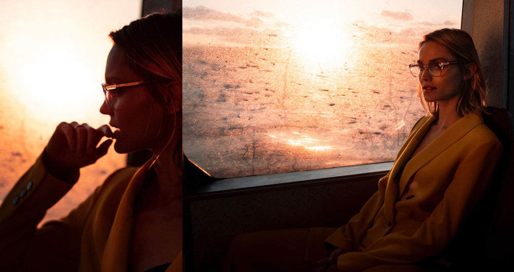 Clair - Staten Island Ferry - New York, NY - Wearing RMNYC Series 1: 1002 in 405 Rose Crystal