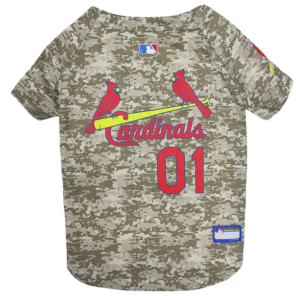 St. Louis Cardinals Pet Camo Jersey