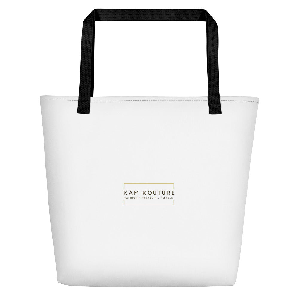 White Signature Beach Tote
