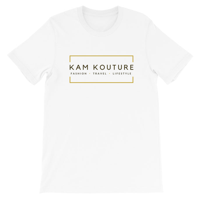 White Short-Sleeve Unisex Signature Tee