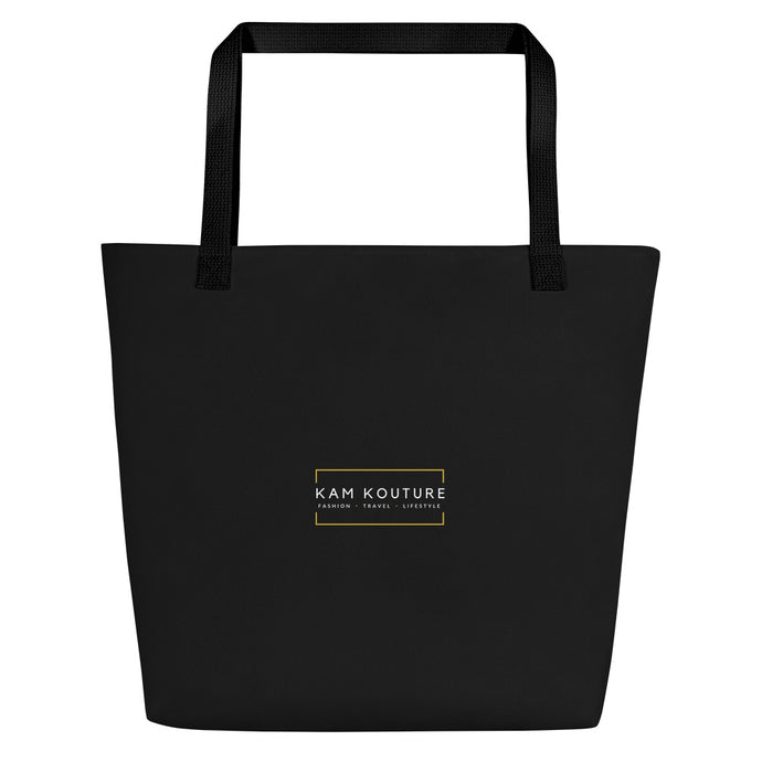 Black Signature Beach Tote