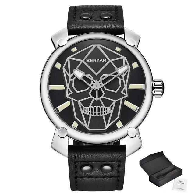 Montre tete de mort style punk luxueuse | Tête De Mort Passion Shop