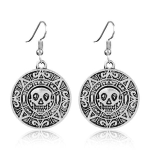 dongsheng Movie Jewelry Pirates Of The Caribbean Earring Women Round Skull Dangle Earring Vintage Drop Earring -15 | Tête De Mort Passion Shop