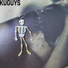 Charger l'image dans la galerie, KUGUYS Halloween Jewelry Acrylic Skeleton Large Earrings for Womens Pendientes Skull Drop Earring Brincos Hallowmas Accessories | Tête De Mort Passion Shop