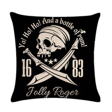 Charger l'image dans la galerie, Pirate Cushion Covers Skull Pattern Printing Car Seat Home Sofa Pillowcase Decoration Death 45*45cm Throw Pillow Cover | Tête De Mort Passion Shop