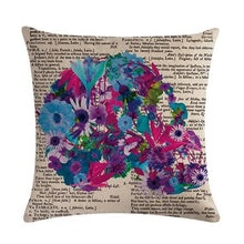 Charger l'image dans la galerie, Creative Insect Letter Linen Blend Pillow Covers Home Decorative Throw Pillows Case Coffee House Skull Art Printed Cushion Cover | Tête De Mort Passion Shop