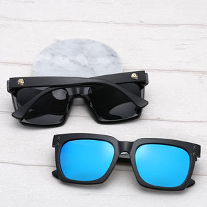 Vintage Skull Polarized Sunglasses Men Women Driving Classic Square Frame Fishing Sun Glasses Male Mirror Points UV400 Sunglsses | Tête De Mort Passion Shop