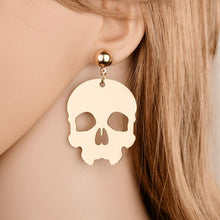 Charger l'image dans la galerie, Fashion exaggerated nightclub skull earrings Color environmentally friendly aluminum alloy skull head earrings Z065 | Tête De Mort Passion Shop