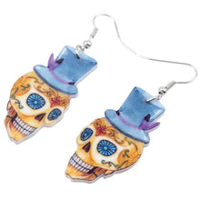 Charger l'image dans la galerie, Bonsny Acrylic Dangle Drop Gentry Skeleton Skull Earrings Big Long Halloween Festival Novelty Jewelry For Girls Women 2018 Hot | Tête De Mort Passion Shop