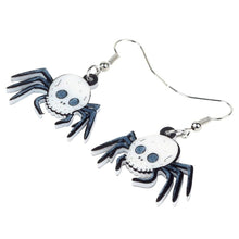 Charger l'image dans la galerie, Bonsny Acrylic Unique Skull Spider Earrings Drop Dangle Novelty Novelty Festival Jewelry For Women Girls Teens Accessories Gift | Tête De Mort Passion Shop