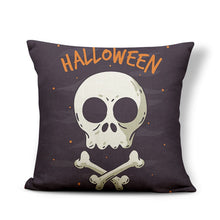 Charger l'image dans la galerie, Scary Halloween Skull Pillow Case Hat Star Moon Heart Shape Flower Decoration Pillows Home Castle Sofa Bed Cushion Cover 43*43 | Tête De Mort Passion Shop