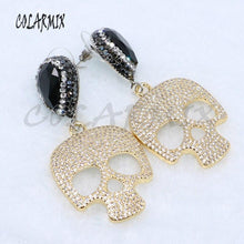 Charger l'image dans la galerie, Fashion small skull earrings Pave zircon high quality jewelry earrings Cute jewelry gift for lady Skull jewelry earrings 5057 | Tête De Mort Passion Shop