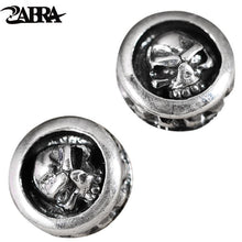 Charger l'image dans la galerie, ZABRA 925 Sterling Silver Skull Earrings Studs Set For Men And Women Rock Punk Gothic Retro Fine Jewelry Brinco Masculino | Tête De Mort Passion Shop