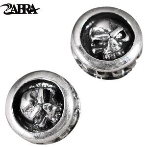 ZABRA 925 Sterling Silver Skull Earrings Studs Set For Men And Women Rock Punk Gothic Retro Fine Jewelry Brinco Masculino | Tête De Mort Passion Shop
