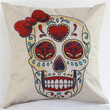 Charger l'image dans la galerie, Beautyhouse Decor Colored flowers skull wholesale wedding gift cushion cover home car office sofa decorative party pillow case | Tête De Mort Passion Shop