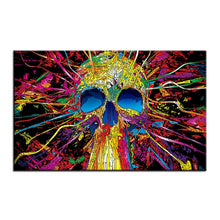 Charger l'image dans la galerie, Large size Printing Oil Painting colorful skull Wall painting Decor Wall Art Picture For Living Room painting No Frame | Tête De Mort Passion Shop