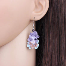 Charger l'image dans la galerie, Bonsny Big Long News Acrylic Drop Dangle Halloween Skull Lady Earrings Style Fashion Jewelry For Girls Women Teen Girls Gift | Tête De Mort Passion Shop