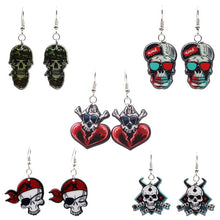Charger l'image dans la galerie, Halloween Ghost Festival Party Zombie Ghost Head Drops Funny Skull Earrings Party Unisex Creative Accessories | Tête De Mort Passion Shop