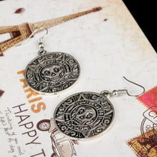 Charger l'image dans la galerie, dongsheng Movie Jewelry Pirates Of The Caribbean Earring Women Round Skull Dangle Earring Vintage Drop Earring -15 | Tête De Mort Passion Shop