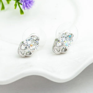 New HOT Fashion Vintage Stud Earrings CZ Skull Stud Earrings | Tête De Mort Passion Shop