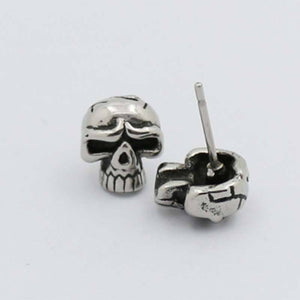 Hip Hop Skull Earrings Men Stainless Steel Post Earrings Spooky Gift Gothic Punk Personalized Party Jewelry | Tête De Mort Passion Shop